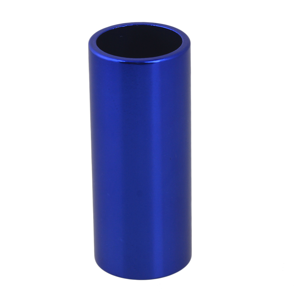 BQLZR 25x20x60mm Cylinder Dark Blue Aluminum Guitar Slide Finger Tube Guitar Accessories by