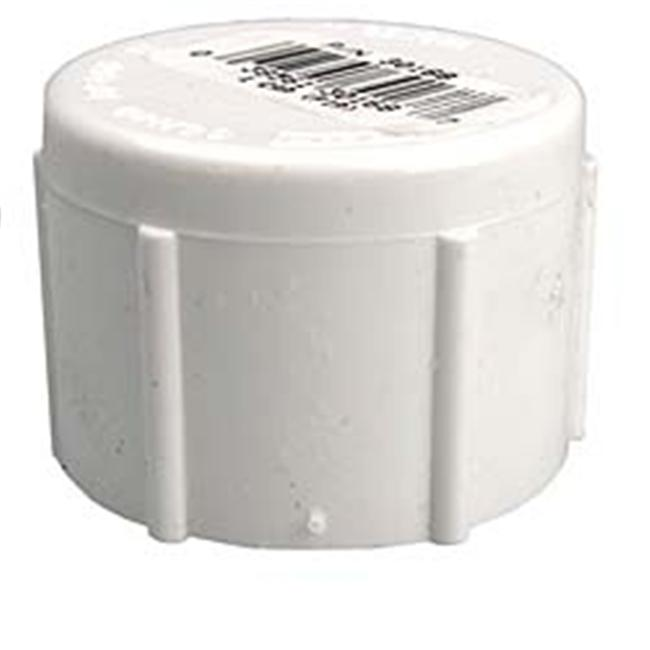 Genova Products 1inch PVC Sch.  40 Threaded Caps  30168 - Pack of 10
