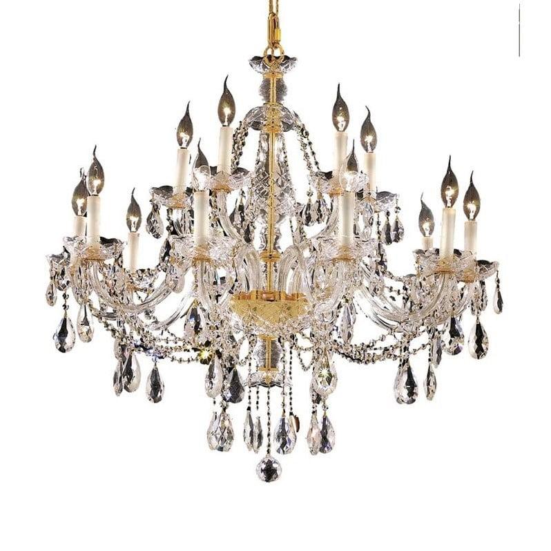 "Elegant Lighting Alexandria 35"" 15 Light Elegant Crystal Chandelier - image 1 de 1"