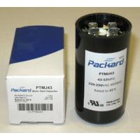 Packard PTMJ43 Motor Start Capacitor. 43-53 MFD UF / 220-250 VAC