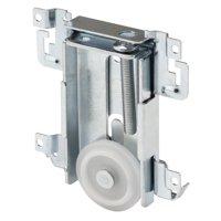 1-7/16 in. Mirror Door Roller Assembly, Nylon Flat Roller, Acme