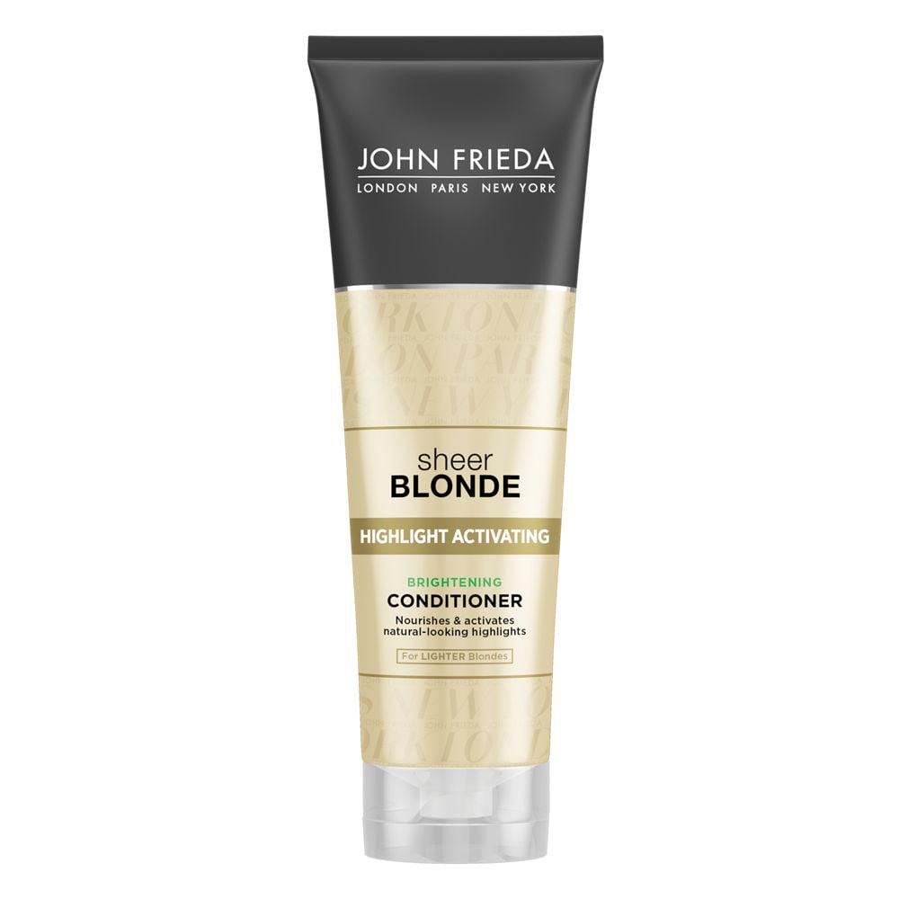 John Frieda Sheer Blonde Highlight Activating Brightening Conditioner, Lighter Blondes, 8.45 Fl Oz