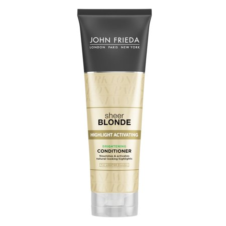 John Frieda Sheer Blonde Highlight Activating Brightening Conditioner, Lighter Blondes, 8.45 Fl (Shampoo And Conditioner For Blonde Highlighted Hair)