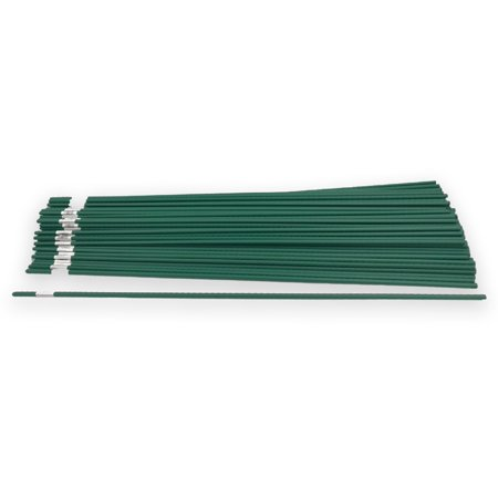 Bamboo Steel Garden Stakes Plant Support Plastic Coated 4ft X 5inch 100 Pack