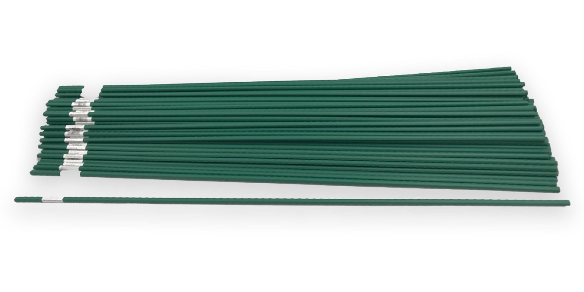 Bamboo Steel Garden Stakes Plant Support Plastic Coated 4ft X .5inch  (100 Pack)