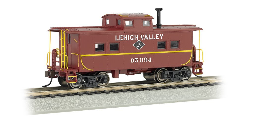 Bachmann Industries Lehigh Valley #95094 Northeast Steel Caboose (HO Scale Train), Silver... by