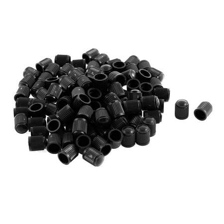 Plastic Tire Valve Stem Caps Black 13mm x 10mm 100Pcs - image 1 of 1