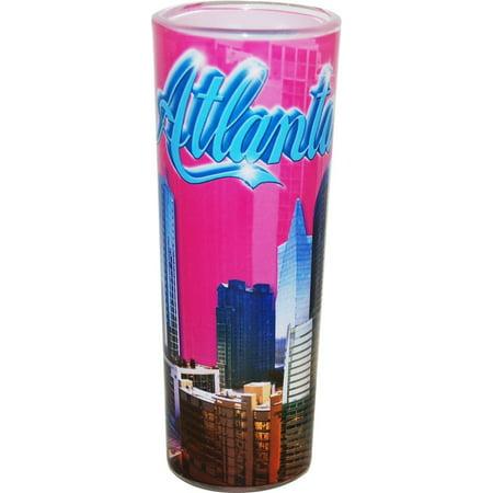 Atlanta Georgia Pink Photo Collage Shooter Shot Glass
