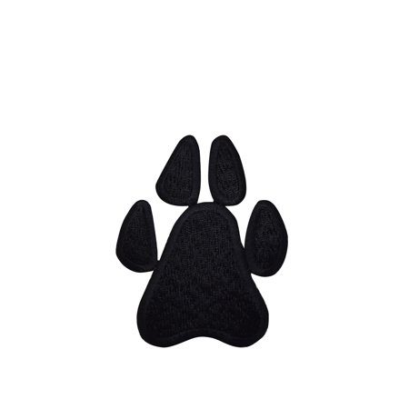 Small/Mini - Black Paw Print - Iron on Applique/Embroidered Patch