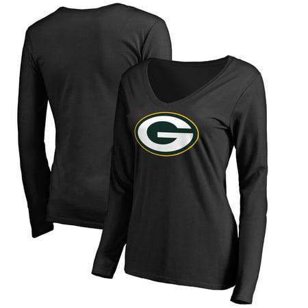 Green Bay Packers NFL Pro Line Women's Primary Logo Long Sleeve T-Shirt - Black](Green Bay Packer Logo)
