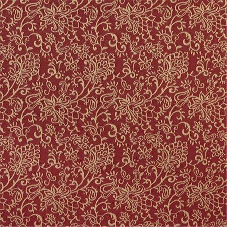 Contemporary Floral Fabric - Designer Fabrics B607 54 in. Wide Red, Contemporary Floral Jacquard Woven Upholstery Fabric