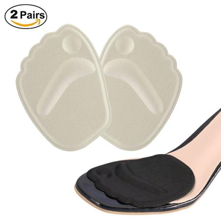e87a7d77a7 HERCHR 2 Pairs Gel Cushion Pads Forefoot Pad, High Heel Shoes Inserts  Insole Ball Foot Arch Care Support Pad - Walmart.com