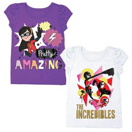 1b7ff6ca2 Disney Pixar The Incredibles Shirt – 2 Pack of Incredibles Tees – Mr  Incredible, Jack Jack, and Elastigirl - Walmart.com
