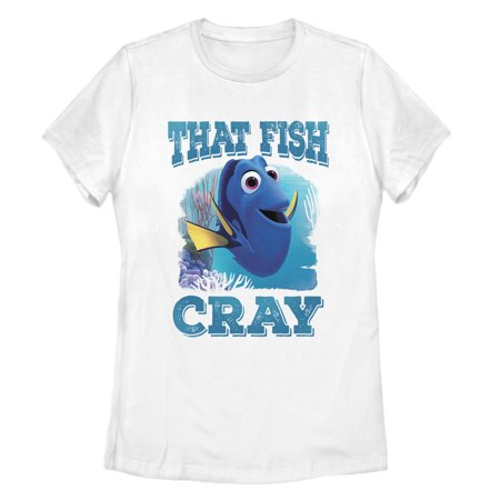 Finding Dory Women's Cray Cray Fish T-Shirt Just keep swimming with a fun new Finding Dory shirt! Shop Finding Dory graphic tees featuring Dory, Marlin, Nemo, Hank, Bailey, and all your favorite Finding Dory characters.