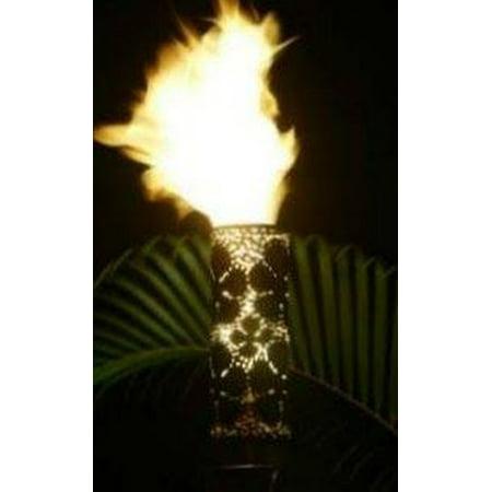 Malama Plumeria Sleeve Automated Tiki Torch with Aluminum