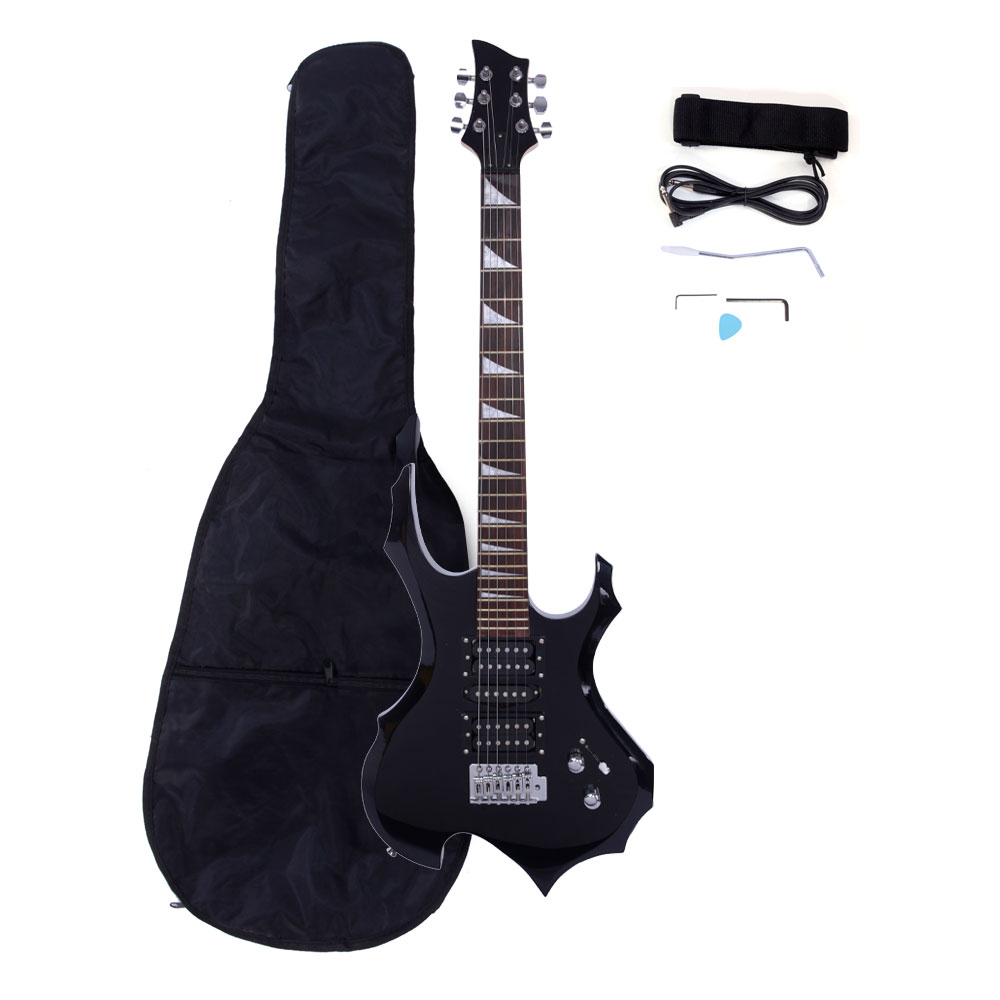 Ktaxon Flame Type Beginner Electric Guitar + Bag Case + Cable + Strap + Picks 3 Colors