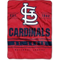 """St. Louis Cardinals The Northwest Company 60"""" x 80"""" Backstop Silk Touch Throw Blanket - No Size"""