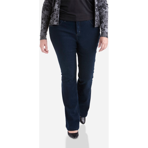 Just My Size-Women's Plus-Size Modern Bootcut Tummy Control Jeans