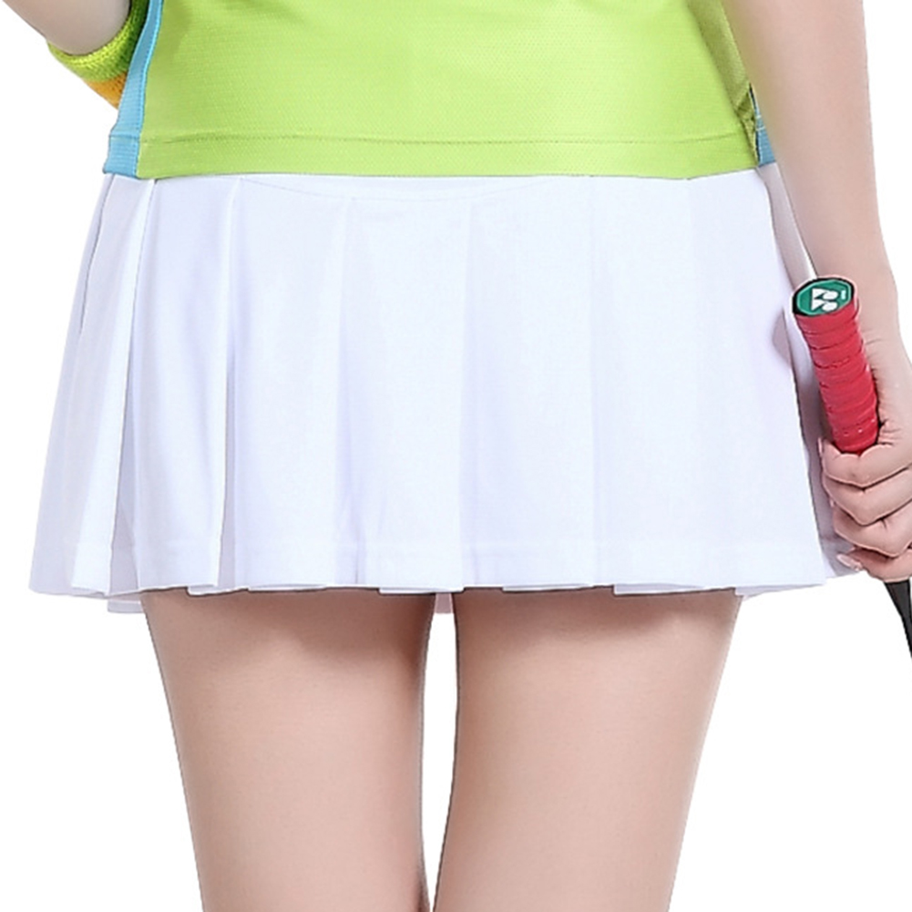 TopTie Big Girls Running Skorts Casual Gym Tennis Skirt with Shorts-White-M