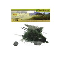 Architectural Model Trees Pine Trees, 3 1/2 in. - 5 in., pack of 4 (pack of 3)