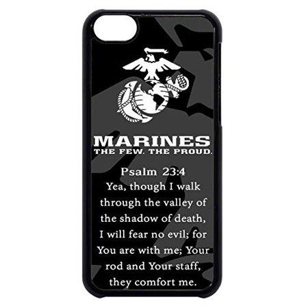 Ganma USMC Marines Prayer Psalm 23 4 Marine Corps Rubber Silicon Black Case Cover Case For iPhone 8 PLUS ()