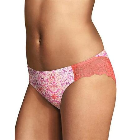 Size 9 Comfort Devotion Lace Back Tanga Panty for Women, Coral Punch (Black Tanga Panties)