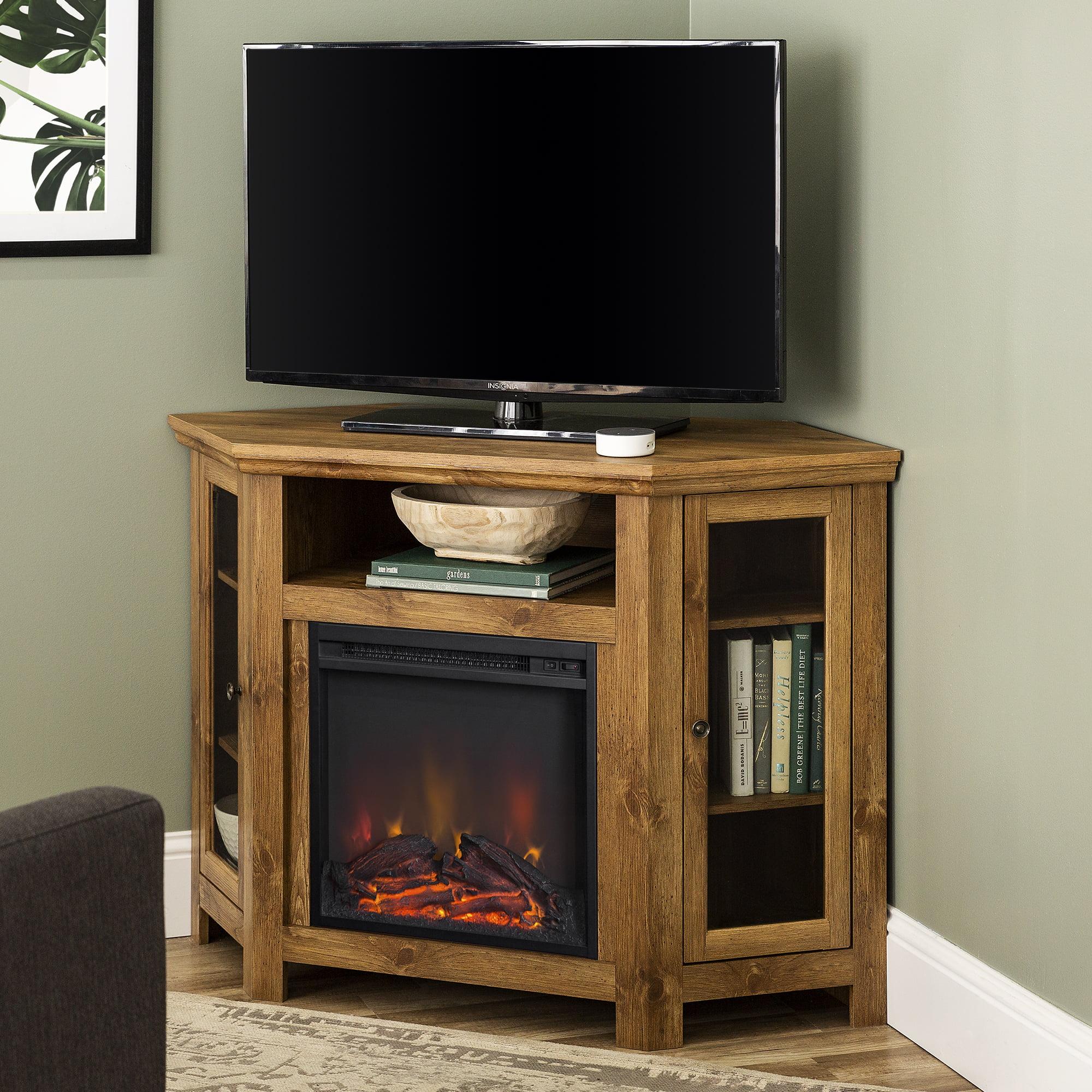 Walker Edison Barnwood Corner Fireplace Tv Stand For Tvs Up To 55 Walmart Com Walmart Com