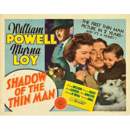 Shadow Of The Thin Man William Powell Myrna Loy Dickie Hall Asta 1941 Movie Poster Masterprint