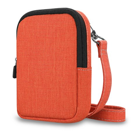 - Fintie Protective Case for Kodak PRINTOMATIC Digital Instant Print Camera - Fabric Soft Pouch w/ Strap, Denim Orange