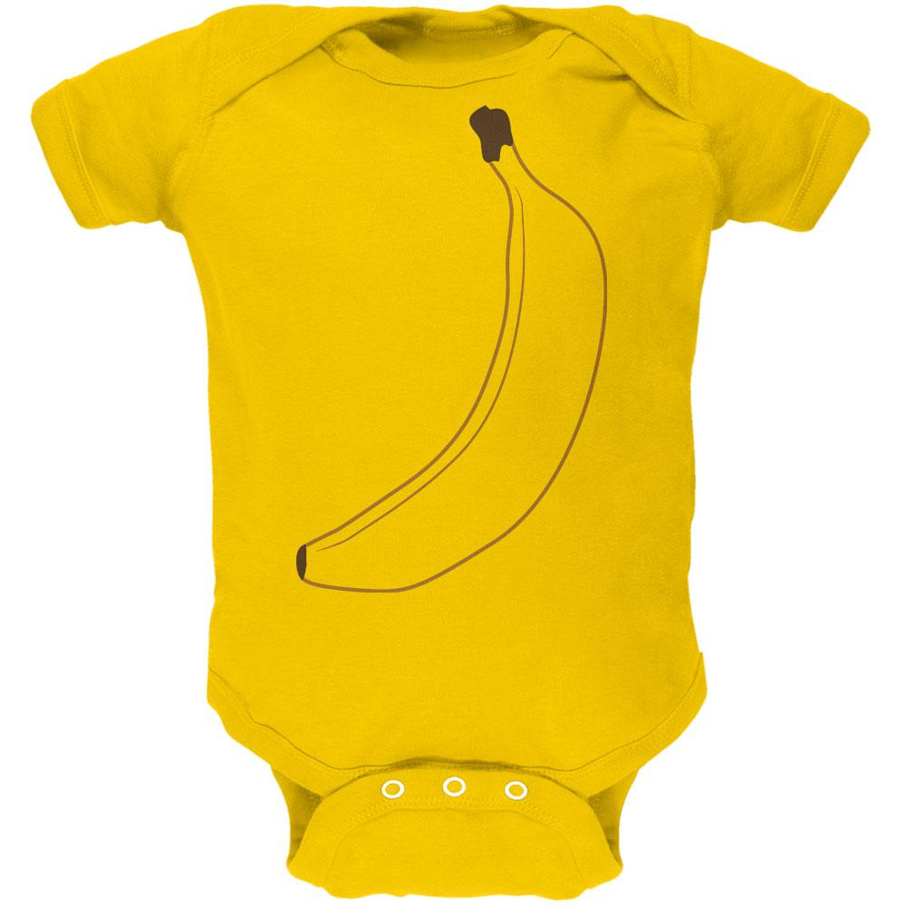 Halloween Fruit Banana Costume Soft Baby One Piece