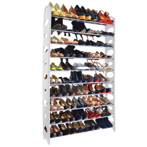Studio 707 50-pair Shoe Rack Shoe Rack 50 pairs white