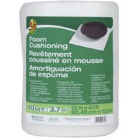Duck Brand Foam Cushioning Roll, 12 in. x 40 ft., White,