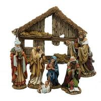 """Kurt Adler 6"""" Resin Nativity, Set of 7"""