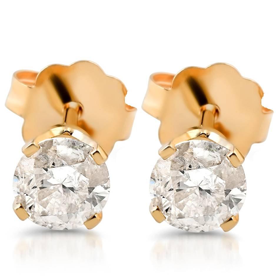 1/4ct Diamond Studs 14K Yellow Gold