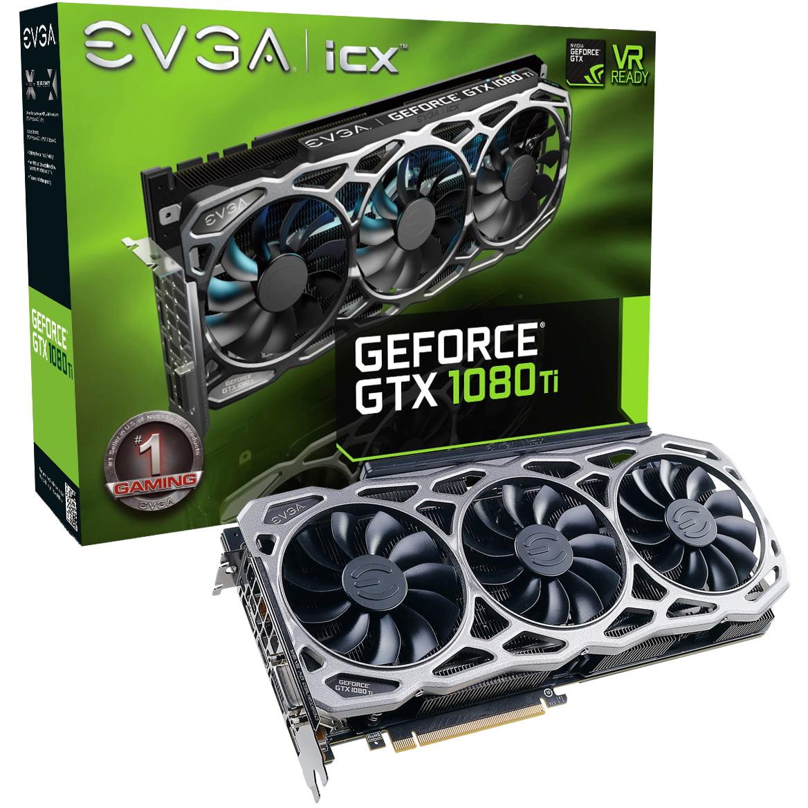 EVGA GeForce GTX 1080 Ti FTW3 GAMING, 11GB GDDR5X, iCX Technology 9 Thermal Sensors & RGB LED G P M, 3x Async... by EVGA