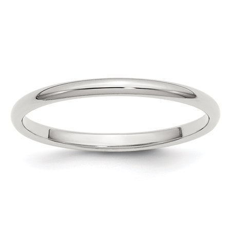 925 Sterling Silver 2mm Half Round Size 4 Band Ring - image 2 of 2