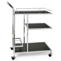 Torre & Tagus Lenox Chrome 3 Tier Bar Cart