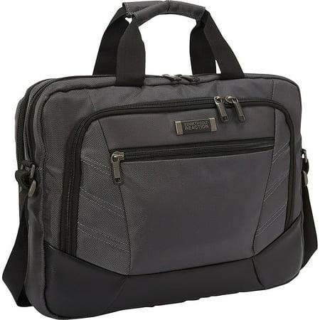 Lightweight Top Zip Briefcase - Kenneth Cole 023572491021 Reaction Top Zip Briefcase for 15.6-inch Laptop - Charcoal