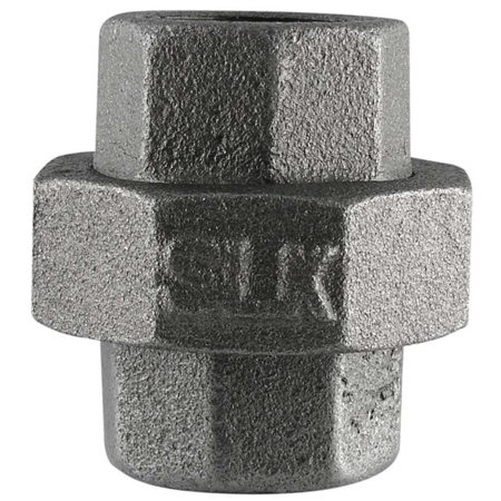0.5 in. Black Ground Joint Union ()
