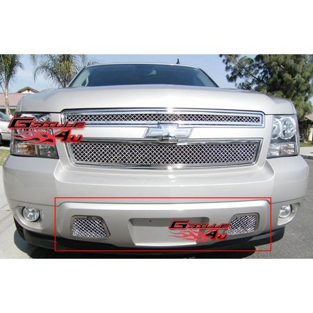 Compatible with 2007-2014 Tahoe Avalanche Suburban Bumper Mesh Grille Grill Insert C76467S
