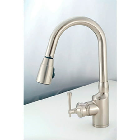 American Brass SL2000N Brushed Nickel Metal Single Hole Pull Down Kitchen Faucet