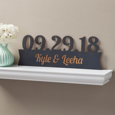 Our Special Day Personalized Black Wood Plaque
