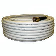 - weBoost 952475 WILSON 400 ULTRA LOW-LOSS WHITE COAX CABLE, 50 OHM