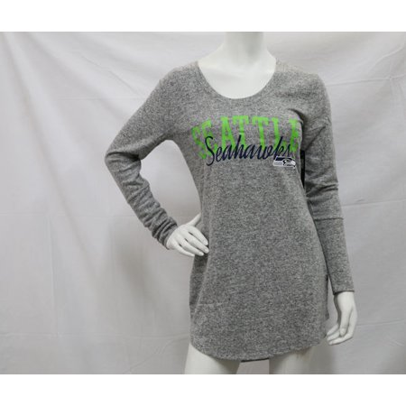 b7cf6060 NFL Team Apparel Women's Seattle Seahawks Reprise Nightshirt In Grey - XL