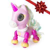 Zoomer - Zupps Tiny Unicorns, Charm, Interactive Toy Unicorn with Light-up Horn, for Ages 4 and Up
