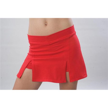 Pizzazz 5100 -RED -YM 5100 Youth A-Line Skirts with Brief, Red - Medium - image 1 of 1