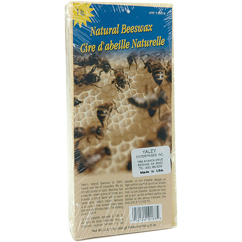 Beeswax 1 Pound Block, Natural