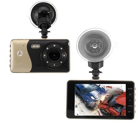 "4"" Dual Lens Car DVR Camera Dash Cam Video Rear Recorder G-Sensor Night Vision HD 1080P  - image 8 of 11"