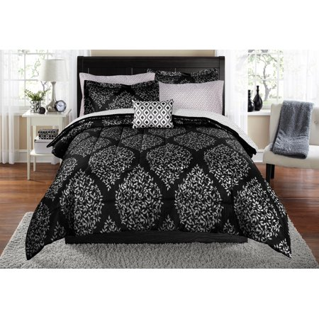 Mainstays Leaf Damask Bed In A Bag Coordinating Bedding