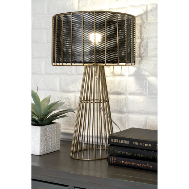 Watch Hill 21'' Scarlett Gold Wired Iron Table Lamp - Walmart.com